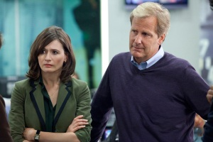 """Jeff Daniels and Emily Mortimer in """"The Newsroom"""""""